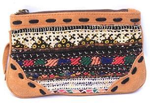 Banjara leather Binayi clutch bag -