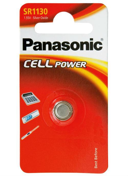 Microbatterie all'ossido d'argento SR1130 - SR-1130EL/1B | Blister da 1 microbatteria a bottone Panasonic