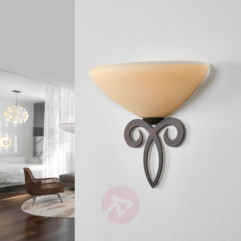 Glass wall light Luca in country house style - Wall Washer Lights