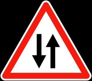 Panneau A18 Circulation Double Sens - Balisage De Chantier Et Panneaux Routiers