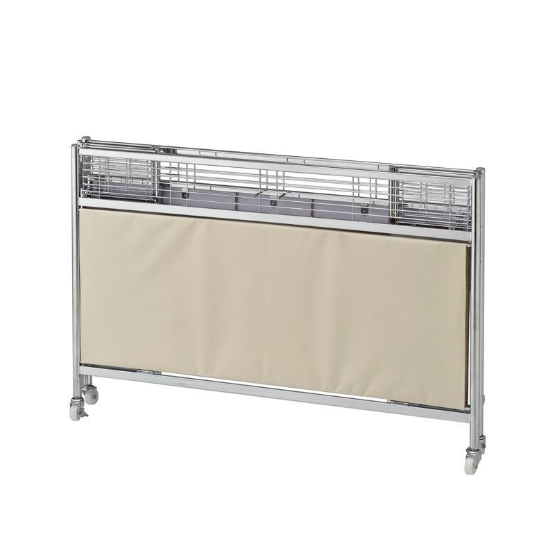 Folding Dump Table - Chrome Frame  - Ivory Canvas