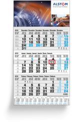 3 Months calendars - 3 Months Grey Business Plan