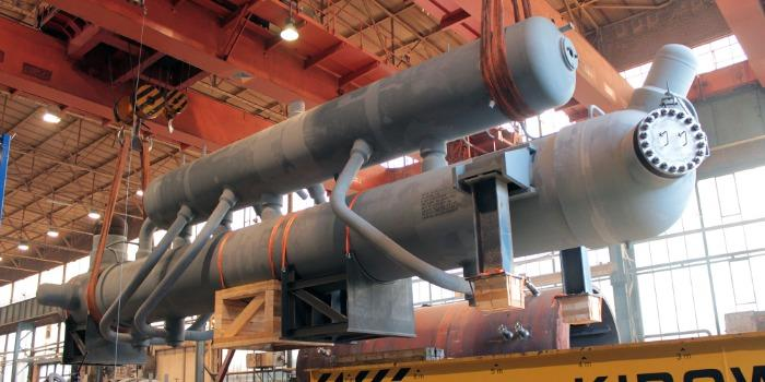 BORSIG Synthesis gas waste heat boiler - for ammonia plants