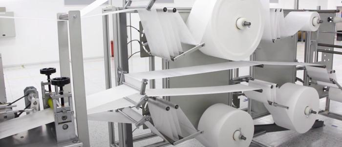 Maschine zur Maskenherstellung 3 lagig - null