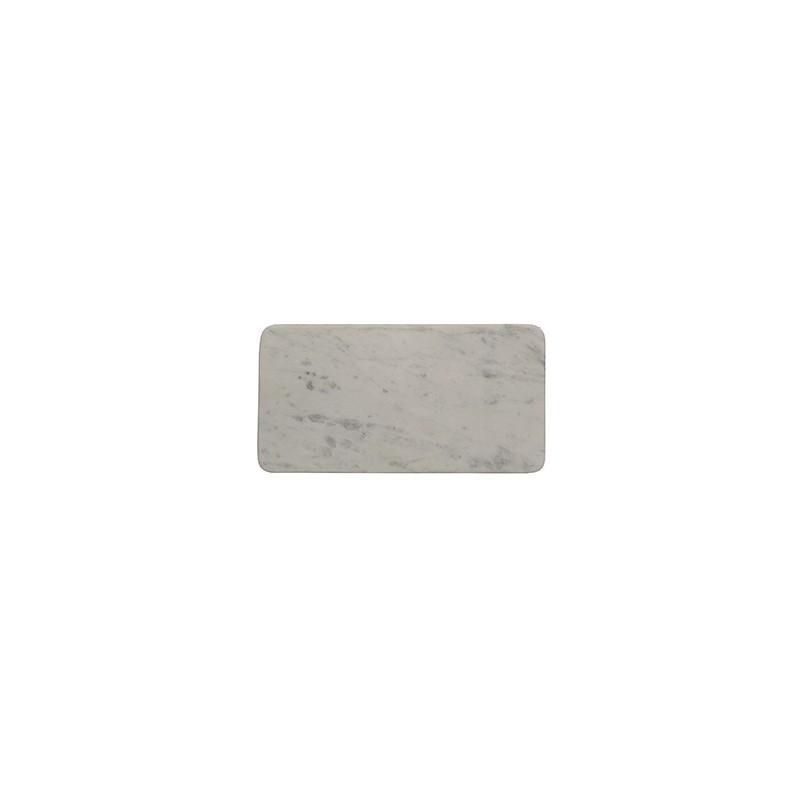 Plateau Rectangulaire Marbre Blanc - Accessoire de bain