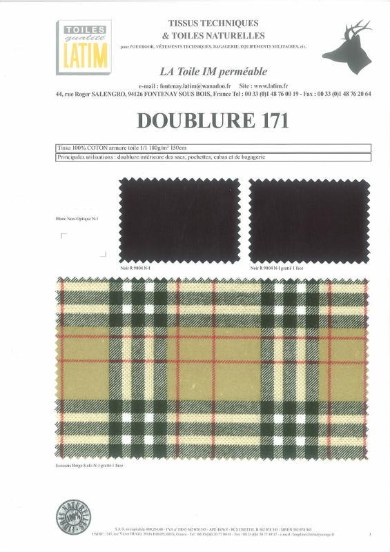 DOUBLURE 171 - Toiles naturelles