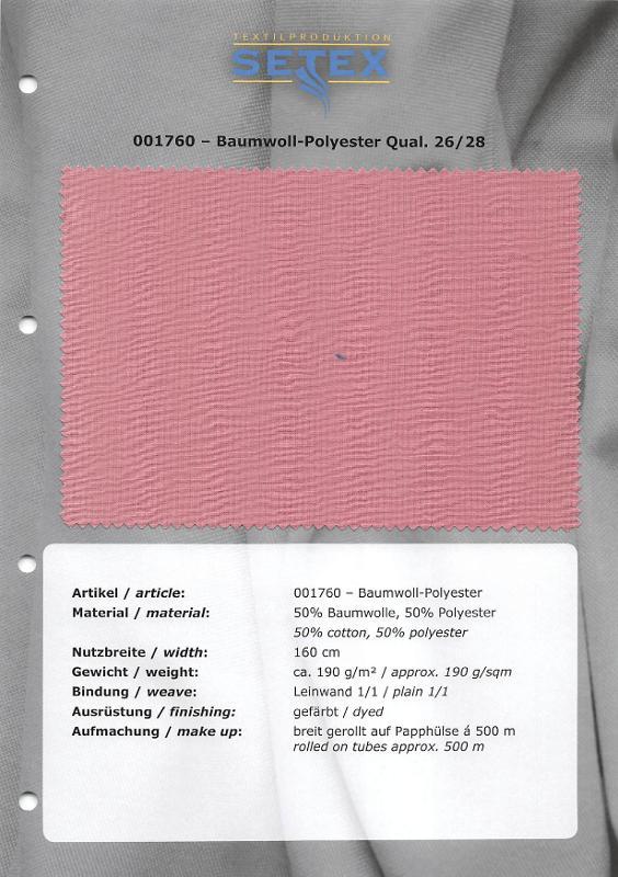 Cotton-Polyester Qual. 26/28 - Cotton-Polyester Qual. 26/28