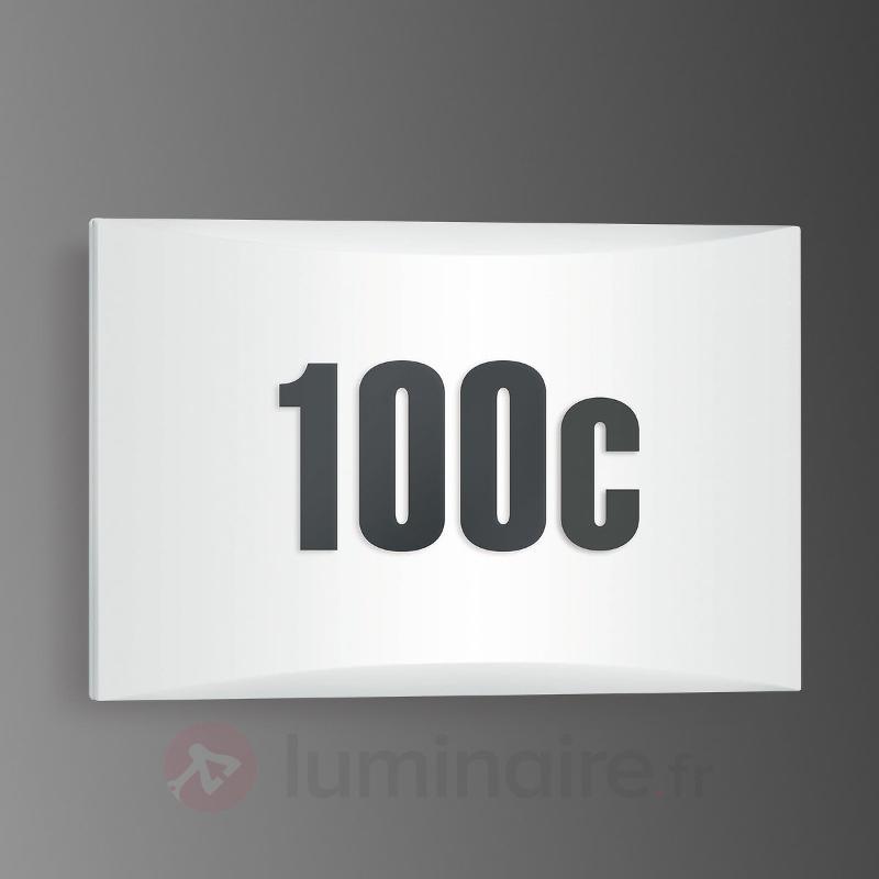 Applique ext. pour num. de maison LN1 LED - IP54 - Numéros de maison lumineux