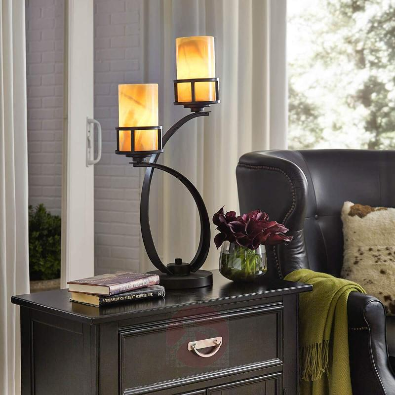 With onyx lampshades - table lamp Kyle - Table Lamps