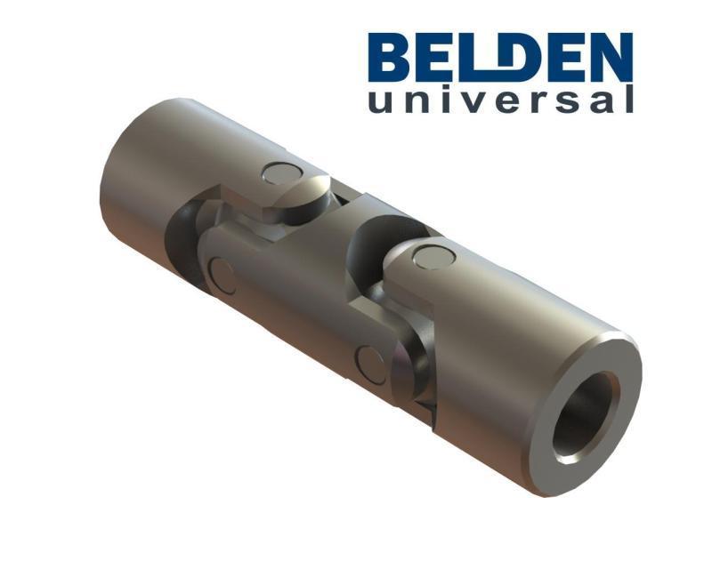 BELDEN DIN 808 Stainless Steel 316L Double Universal Joints - Stainless Steel Cardan Joints, Stainless Steel U Joint