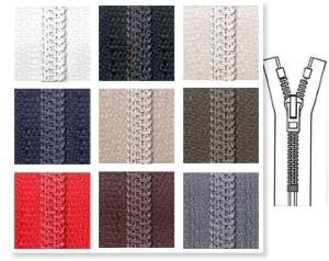Zip 5 spirale fixe (Standard - 18 cm - Ecru) - Fermetures à glissière