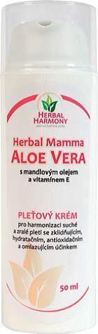 ALOE VERA KRÉM s mandlovým olejem a vitamínem E - 50ml - Herbal Harmony® - Herbal Mamma - kosmetika pro maminky