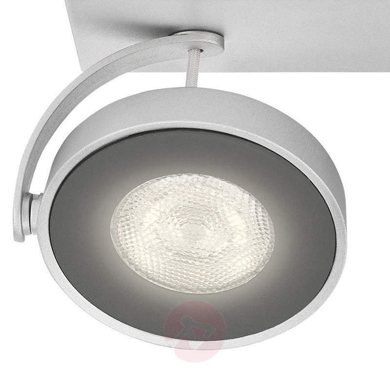 Aluminium-coloured Clockwork LED ceiling light - Ceiling Lights