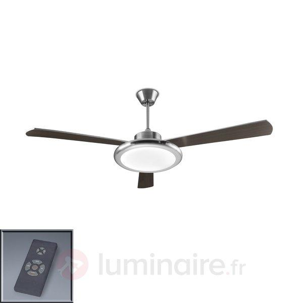 Ventilateur de plafond Bahia nickel mat - Ventilateurs de plafond modernes