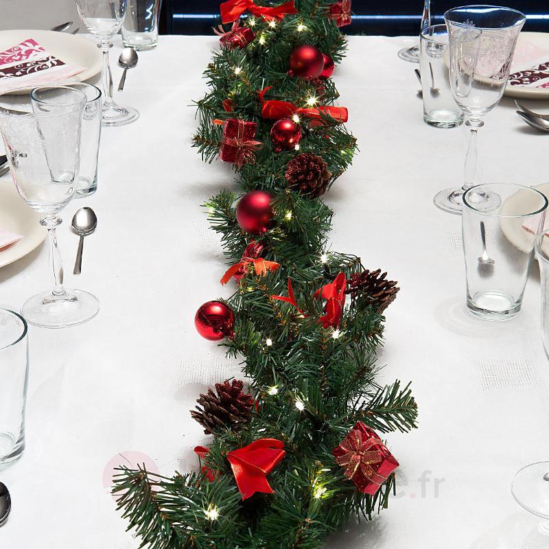 Guirlande de Noël LED LUDVIG 2,7m décoration rouge - Décorations de Noël LED d'intérieur