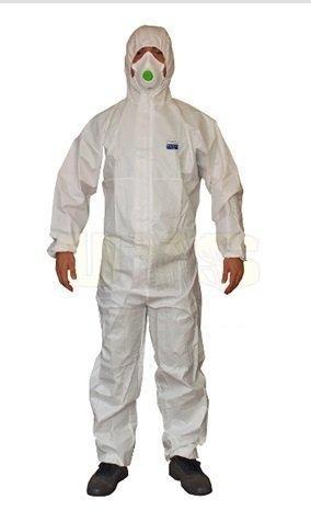 ochranný oděv, jednorázový ochranný oděv 4 5 6 - Disposable Coverall ochranná laminovaná kombinéza 60 gramů,jednorázový typ 4 5 6