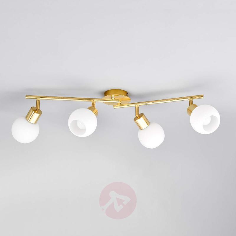 4-bulb LED ceiling light Elaina in brass - Ceiling Lights