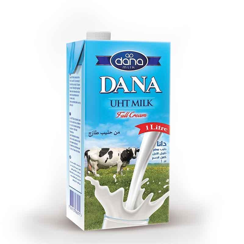 حليب دانا كامل الدسم المعقم بالحرارة (UHT) بمعدل دهون 3.5% م