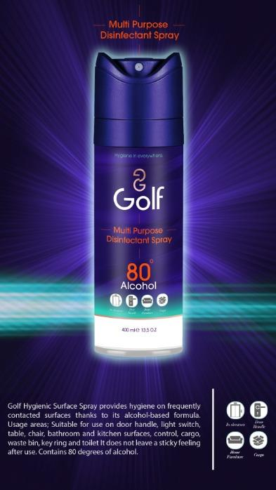 GOLF Multipurpose Disinfectant Spray 400 ML - GOLF Multipurpose Disinfectant Spray 400 ML