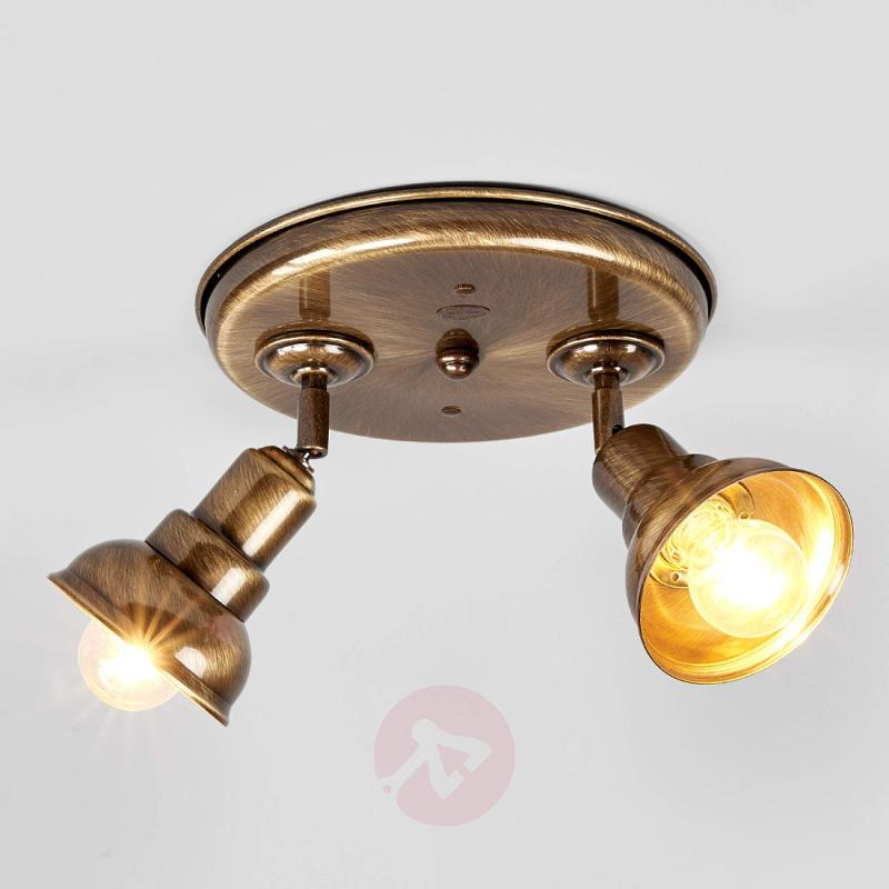 Spotlight Spotisland, 2-bulb burnished brass - indoor-lighting