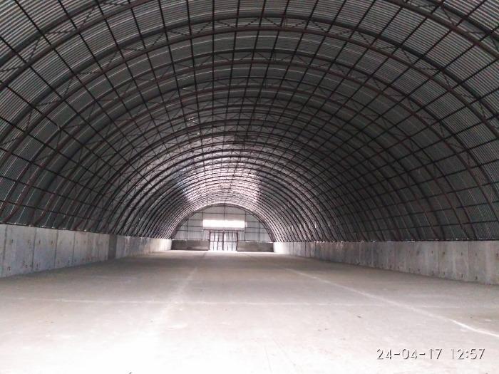 арочный склад - монтаж арочного склада