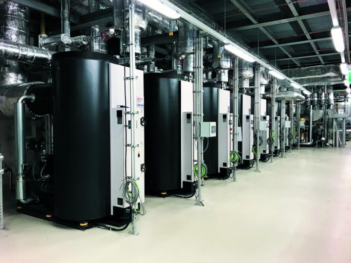 Sistema múltiplo - Caldeiras de vapor - Várias caldeiras a vapor conectadas em série com uma CVE