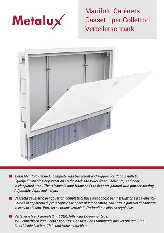 Metal Manifold Cabinets  - Metal Manifold Cabinets complete with basement and support for floor installatio