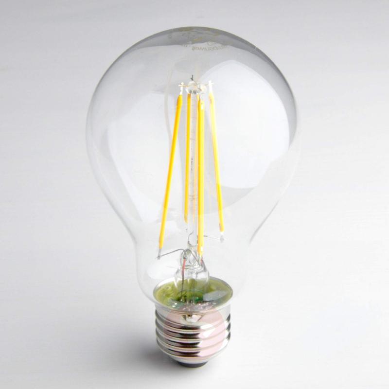 E27 8W 827 LED filament lamp, clear - light-bulbs