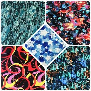 digital printed polyamide fabric - design collage