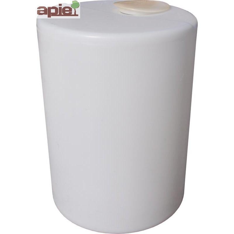 Cuve de dosage cylindrique 60 L, couvercle à capsule - Référence : CUVE/DOSAGE/DV0060