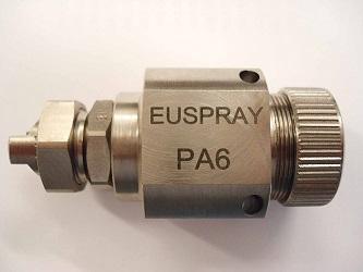 Водовоздушные форсунки EUSPRAY  - Форсунки мелкодисперсного распыления с подключением жидкости и воздуха