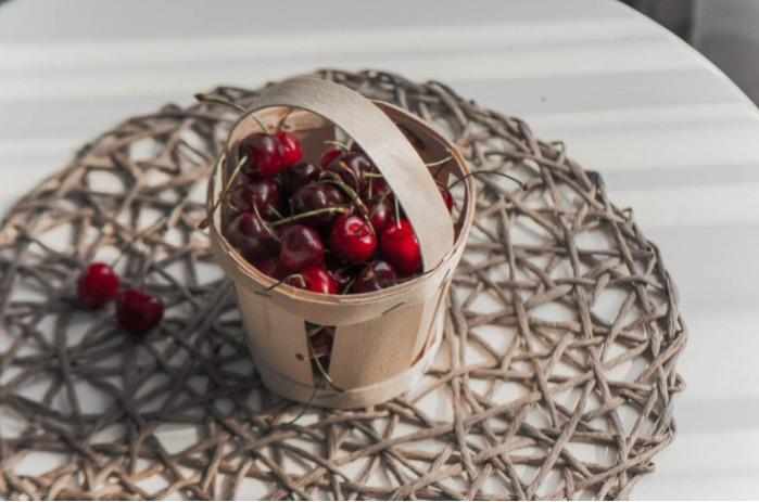 Cestas de chapa de madera con asas  - Ideal para envasado de frutas, bayas