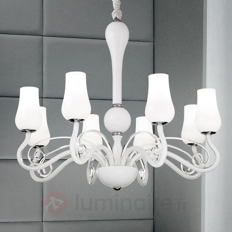 Noble lustre Monica blanc - Lustres designs, de style