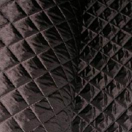 Doublure matelassée polyester 150 cm marron - Toiles / Doublures