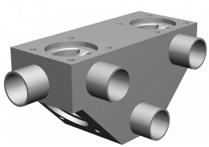 SISTO-CM409 Multi-Port Valve, forged body, PN16 - Multi-Port Valve,1.4435, butt welded/Clamp, enclosed diaphragm spirale supported