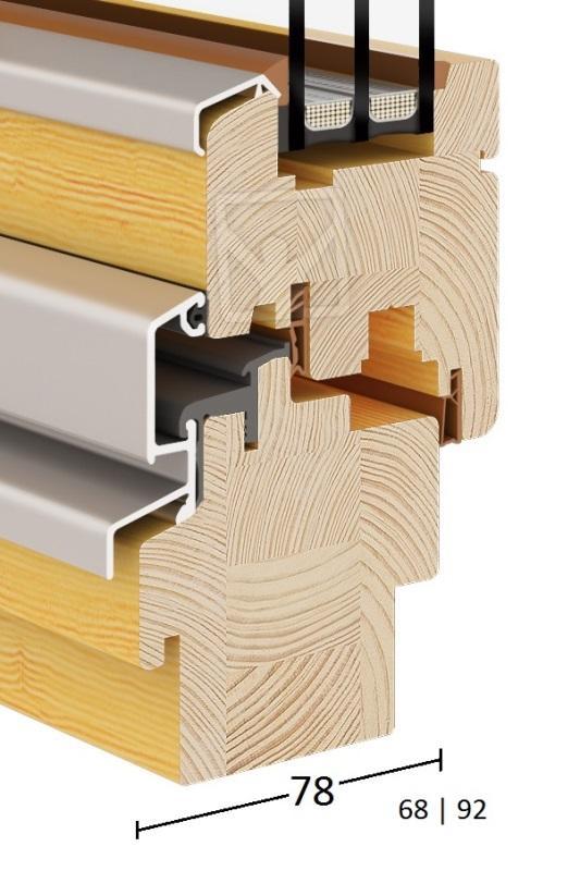 Eco (Wooden Windows 68|78|92) - Eco-Wood-Turn & Tilt Window