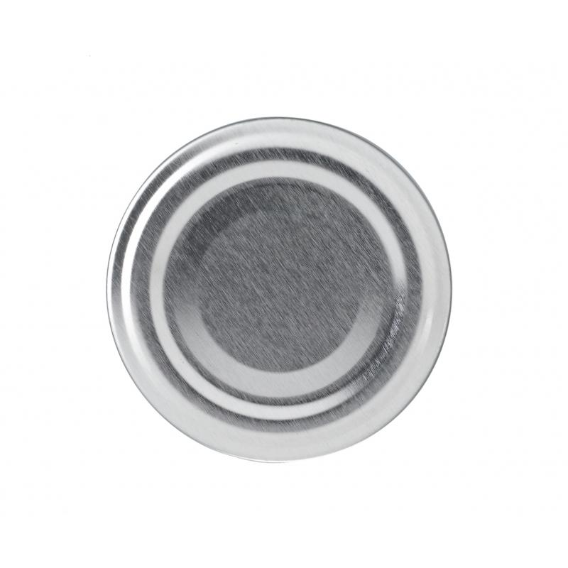 100 twist of caps Silver TO 89 mm for pasteurization - SILVER