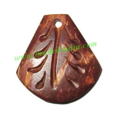 Handmade coconut shell wood pendants, size : 21x20x3mm - Handmade coconut shell wood pendants, size : 21x20x3mm