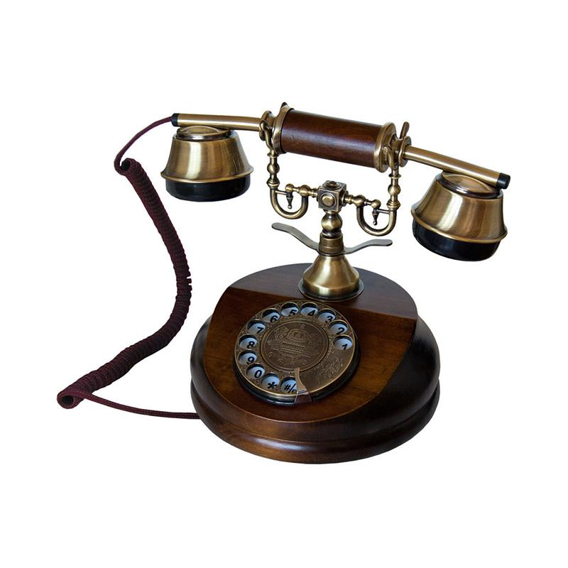 Opis 1921 cable - landline telephone in wood and metal