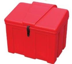 Bac À Sel Ou Sable 110 Litres Rouge - COF110R-Coffre et bac à sel ou sable PEHD