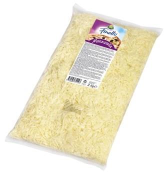 Mozzarella Rallada 40+ formato 2kg - Mozarella danesa rallada en bolsa de 2kg