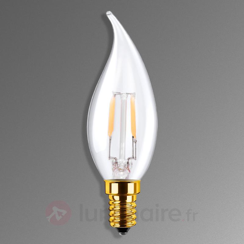 Ampoule flamme LED E14 3,5W 922 transparente - Ampoules LED E14