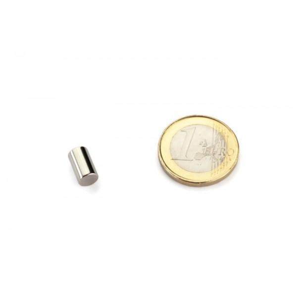 Neodymium disc magnet 6x10mm, N40, Ni-Cu-Ni, Nickel coated - Disc