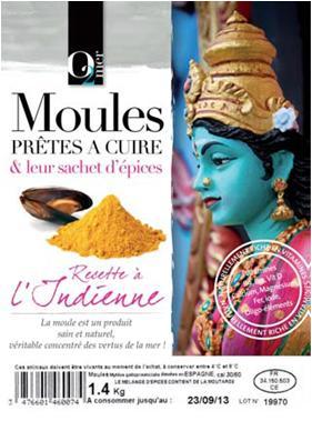 Moules Prêtes à Cuire & Leur Sachet D'épices Indiennes 1,4KG - Produits de la mer