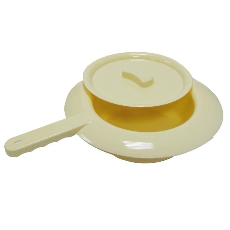 Steckbecken Kunststoff, mit Flachgriff, Elfenbein - Stechbecken