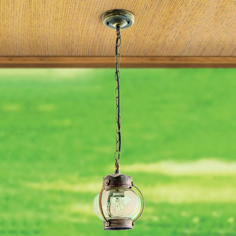 Outdoor hanging lamp Marguerite with bubble glass - Outdoor Pendant Lighting