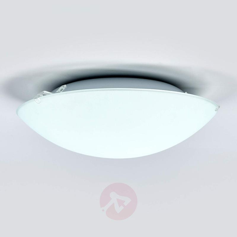 White Mirna LED ceiling lamp with a round shape - indoor-lighting