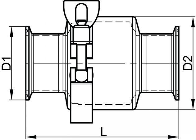 63463 CLAPET ANTI-RETOUR BOUTS CLAMP JOINTS EPDM Inox 316L - Accessoires de robinetterie CLAMP