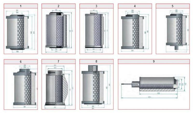 Séparateur air/huile  - Pour pompes à vide