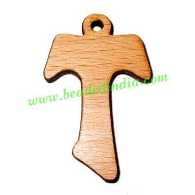 Handmade wooden cross (christian) pendants, size : 41x29x4mm - Handmade wooden cross (christian) pendants, size : 41x29x4mm